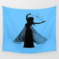 elsa Wall Tapestries featuring Elsa by MandiMccl