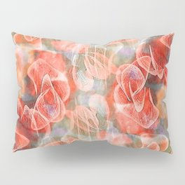 Falling Petals Abstract Floral Pillow Sham