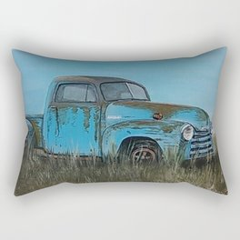 Old Blue Chevy Rectangular Pillow