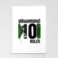 zlatan Stationery Cards featuring Ibrahimovic 10 Rules by Lara Murasaki