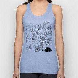 Eli Jorgensen Art Collage Unisex Tank Top