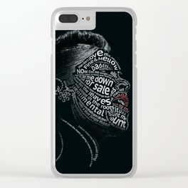 Billie Holiday Typographic Print Clear iPhone Case