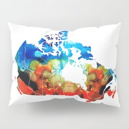 Canada - Canadian Map By Sharon Cummings Pillow Sham