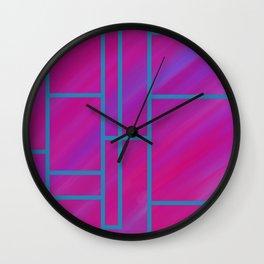 segmented (two) Wall Clock