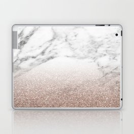 Marble sparkle rose gold Laptop & iPad Skin