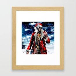 iron maiden christmas santa claus 2019 2020 napitupulu Framed Art Print