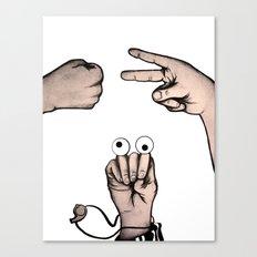Rock, Scissors, Hanz Canvas Print