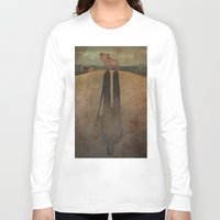 farm Long Sleeve T-shirts featuring Animal Farm by Marilyn Foehrenbach Illustration