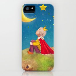 The Little Prince  on a small planet  in  night sky  iPhone Case