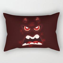 Devil Face (Halloween) Rectangular Pillow