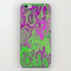 Pink and green  iPhone & iPod Skin