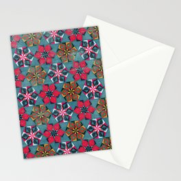 Origami Flower - blue Stationery Cards