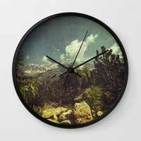italian Wall Clocks featuring Italian Mountains by Dirk Wuestenhagen Imagery