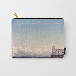 Miramar Castle with Italian Alps in background. Trieste Italy Carry-All Pouch