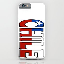Chile Font with Chilean Flag iPhone Case