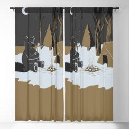 Toasty Bear Campsite Chrome Blackout Curtain