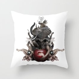 ANIMAL ITCH (Totem of the Elephant) Throw Pillow