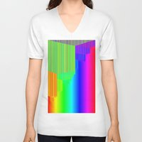 pivot V-neck T-shirts featuring R Experiment 5 (quicksort v3) by X's gallery