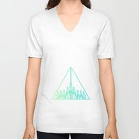 green arrow V-neck T-shirts featuring Arrow by Azria