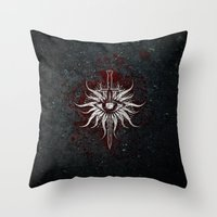 dragon age inquisition Throw Pillows featuring The Inquisition by Toronto Sol