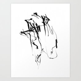The Wing | Black and White Abstract Art | Abstract Art Print Art Print