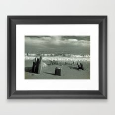 BEACH WORSHIP Framed Art Print
