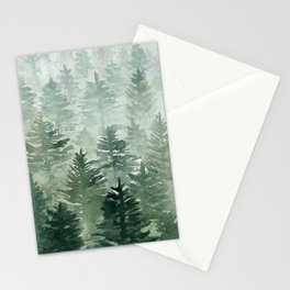 Cloudy Forest Stationery Cards