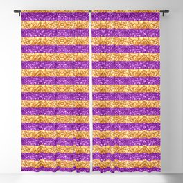 Purple and Gold Glitter Stripes Baton Rouge New Orleans Nola Louisiana Los Angeles California Blackout Curtain
