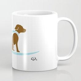 Hang 8 // surfing labrador // cool pup Coffee Mug