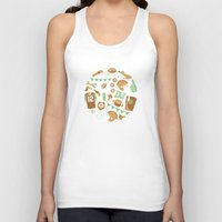 football Tank Tops featuring Football! by Jessica Giles