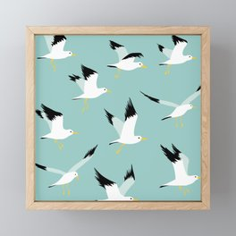 Flyng seagulls Framed Mini Art Print