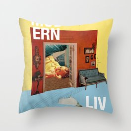 Modern Living  Throw Pillow