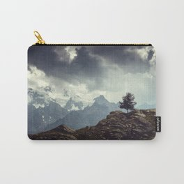 Majestic Mountains and a lone tree Carry-All Pouch