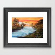 Lazy River Framed Art Print
