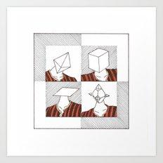 Ability to make your head any geometric shape Art Print