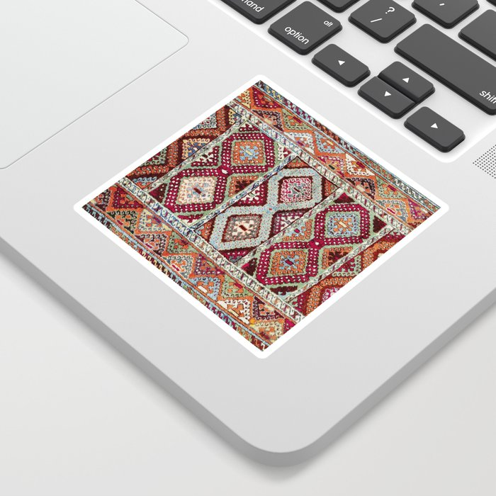 Gaziantep  Antique Turkish Rug Print Sticker