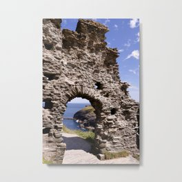 Tintagel Castle Gateway Metal Print
