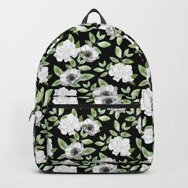 Gardenia Pattern - Black Backpack