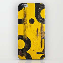 black numbers on yellow background iPhone Skin