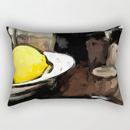 Lemon of Yellow in a White Bowl with Shadows 2 Rectangular Pillow