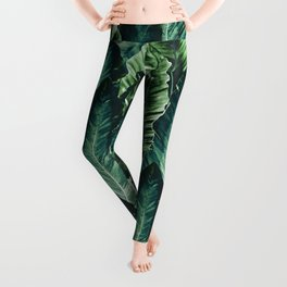 Green Vibes #1 #tropical #foliage #decor #art #society6 Leggings