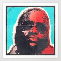 Rick Ross  Art Print
