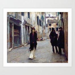 John Singer Sargent Street in Venice Art Print