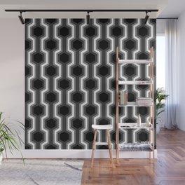 Retro-Delight - Humble Hexagons - Black Wall Mural