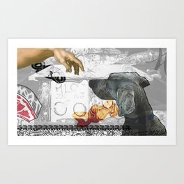 GOD DOG Art Print