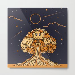 Man In The Tree Metal Print
