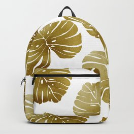 Tropical Leaf - Gold Palette Backpack