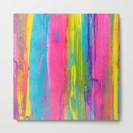 Rainbow Abstract - Summer Nights in Miami V2 Metal Print