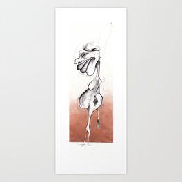 A genital accident  Art Print