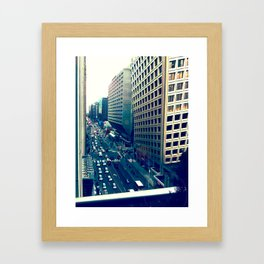 Bloor balcony 001 Framed Art Print